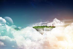sea clouds landscape digital art sky sea