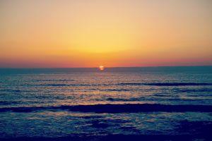 sea horizon sky landscape sunlight