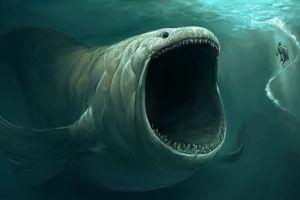 sea monsters artwork fantasy art underwater