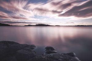 sea nature clouds sky