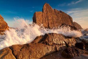 sea nature coast rock water
