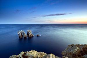 sea nature sky horizon rock