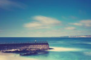 sea nature sky pier