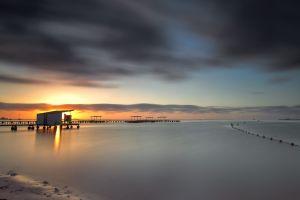 sea sunlight sky pier beach