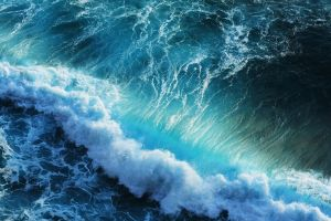 sea turquoise nature water splashes waves cyan