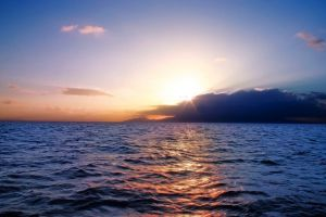 sea water landscape nature sunset