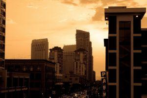 sepia sky usa building san diego city cityscape