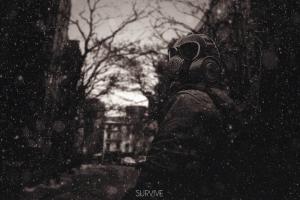 sepia survival apocalyptic gas masks