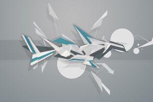 shapes abstract graffiti