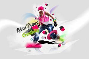 shapes colorful music dancer shapes women