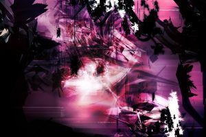 shapes dark black digital art pink abstract surreal