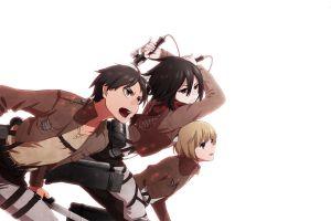 shingeki no kyojin anime anime girls eren jeager mikasa ackerman armin arlert anime boys