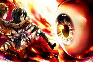 shingeki no kyojin anime girls mikasa ackerman eyes