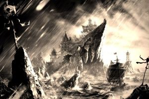 ship fantasy art pirates