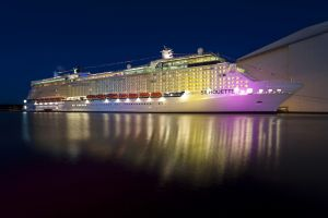 ship lights sea night