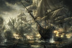 ship ocean battle empire: total war artwork old ship video games battle war frigates sea