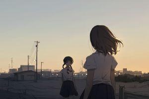 short hair anime school uniform anime girls original characters
