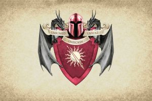 sigils coats of arms game of thrones house martell artwork crest paper