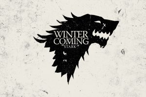 sigils game of thrones monochrome winter is coming house stark