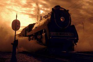 signal vintage vehicle wires steam locomotive train photography