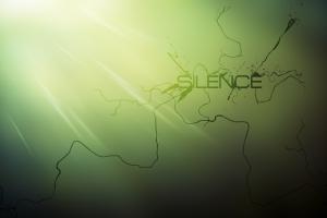 silence digital art typography