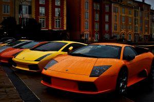 silver cars rain orange cars lamborghini car vehicle yellow cars red cars street house