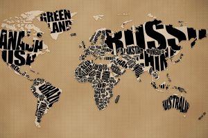 simple background artwork world map