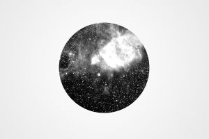 simple background geometry monochrome circle space