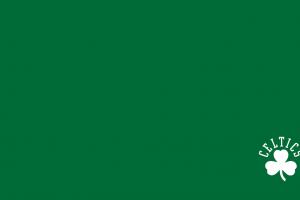 simple background green background boston celtics minimalism