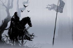 simple background horse cape death fantasy art skull
