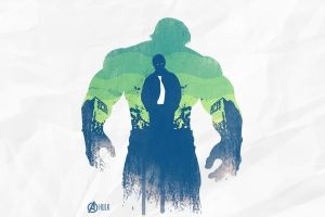 simple background hulk digital art the avengers silhouette double exposure tie
