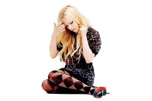 simple background long hair white background singer avril lavigne painted nails women