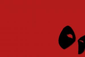 simple background minimalism red background mask