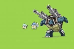 simple background pokémon blastoise wartortle squirtle video games
