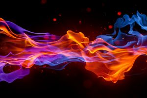 simple background smoke digital art blue fire shapes artwork red abstract colorful