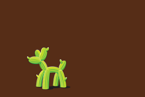 simple cactus balloon humor threadless brown