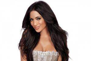 singer brunette women retouching smiling celebrity makeup nicole scherzinger