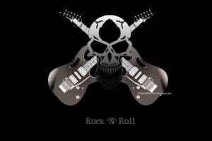skull artwork musical instrument