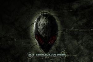 skull red eyes alienware