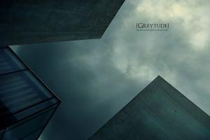 sky architecture dark worm's eye view building