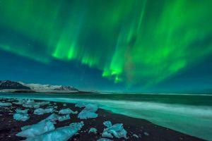 sky aurorae ice nature
