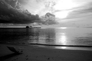 sky beach horizon sea clouds nature