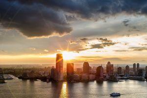 sky cityscape new york city