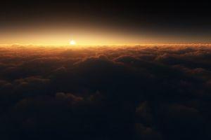 sky clouds sunlight horizon