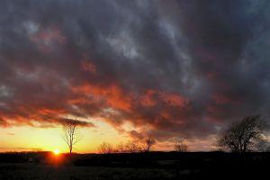 sky clouds sunlight landscape