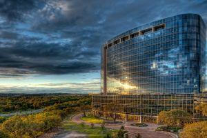sky clouds texas building
