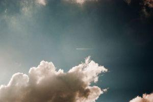 sky clouds white blue