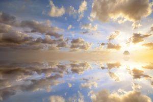 sky coast clouds reflection sunlight