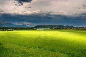 sky field landscape