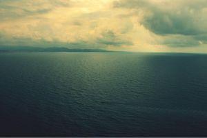 sky horizon clouds sea calm